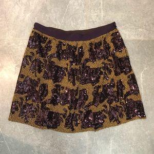 Club Monaco sequin mini skirt